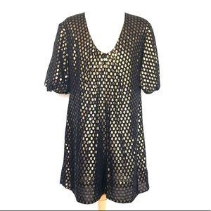 NWOT French Connection silk polka dot dress 6
